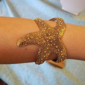 NWT Starfish Cuff by Lucky You Gold Colored Adjust